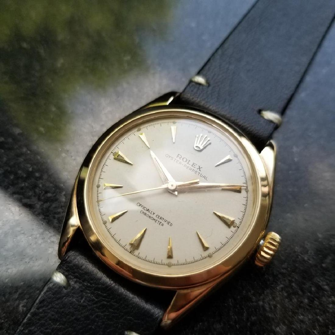 ROLEX Men's 14K Solid Gold Oyster Perpetual 6084