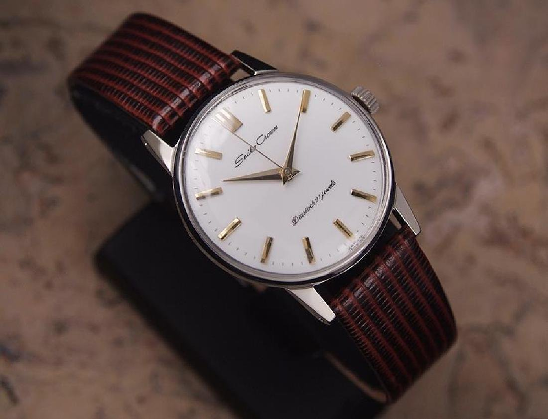 Seiko Crown Made in Japan 1960 Stainless Steel Manual - 3