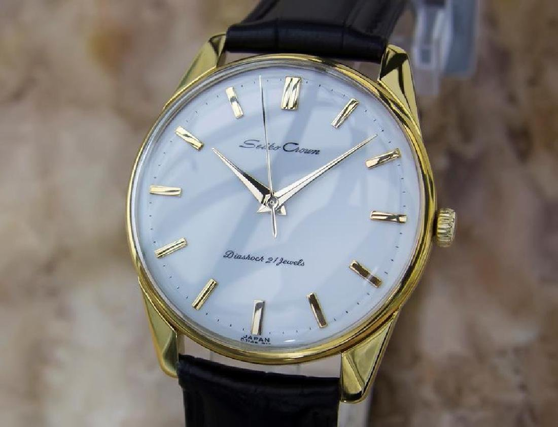 Seiko Crown Made in Japan 1960 Gold Plated Manual 36mm