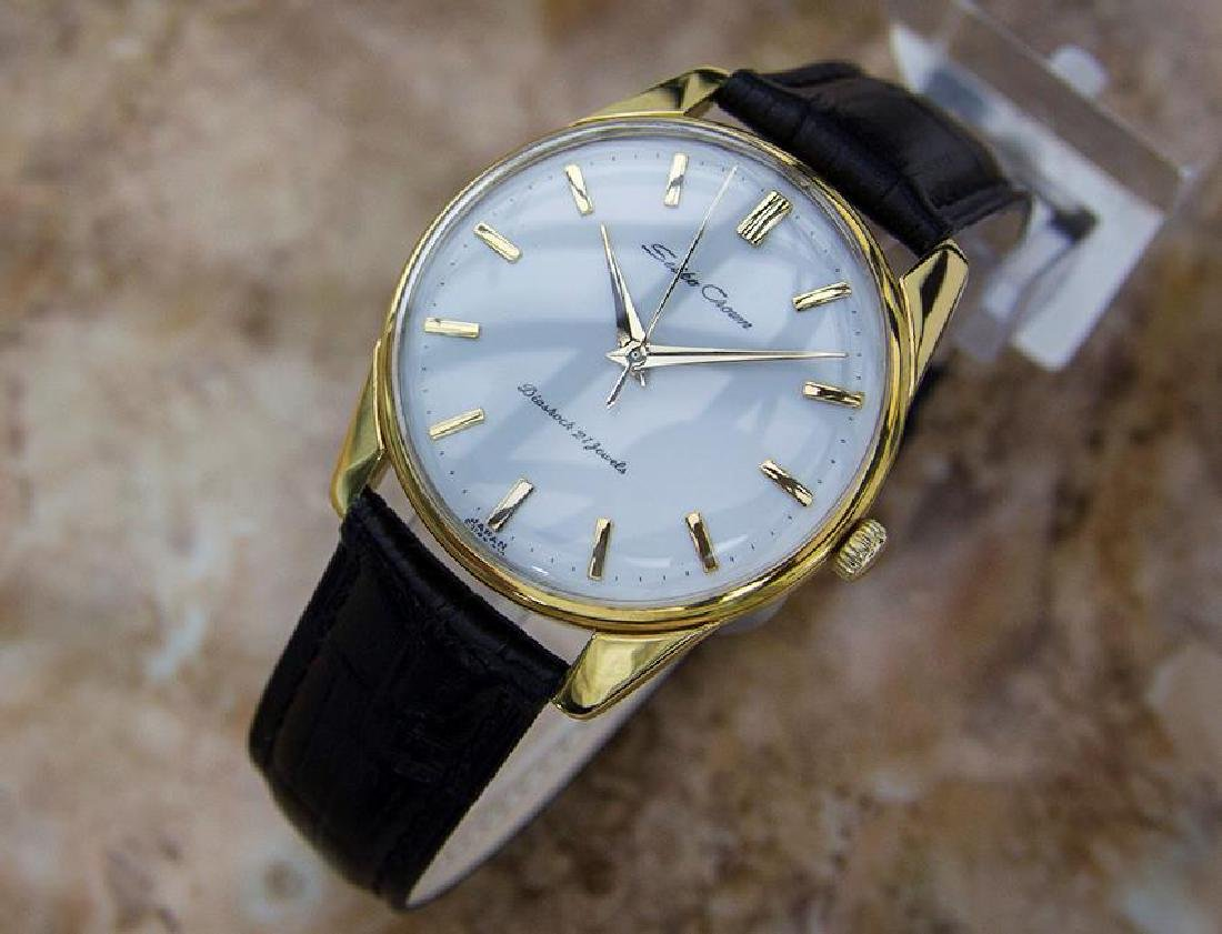 Seiko Crown Made in Japan 1960 Gold Plated Manual 36mm - 2