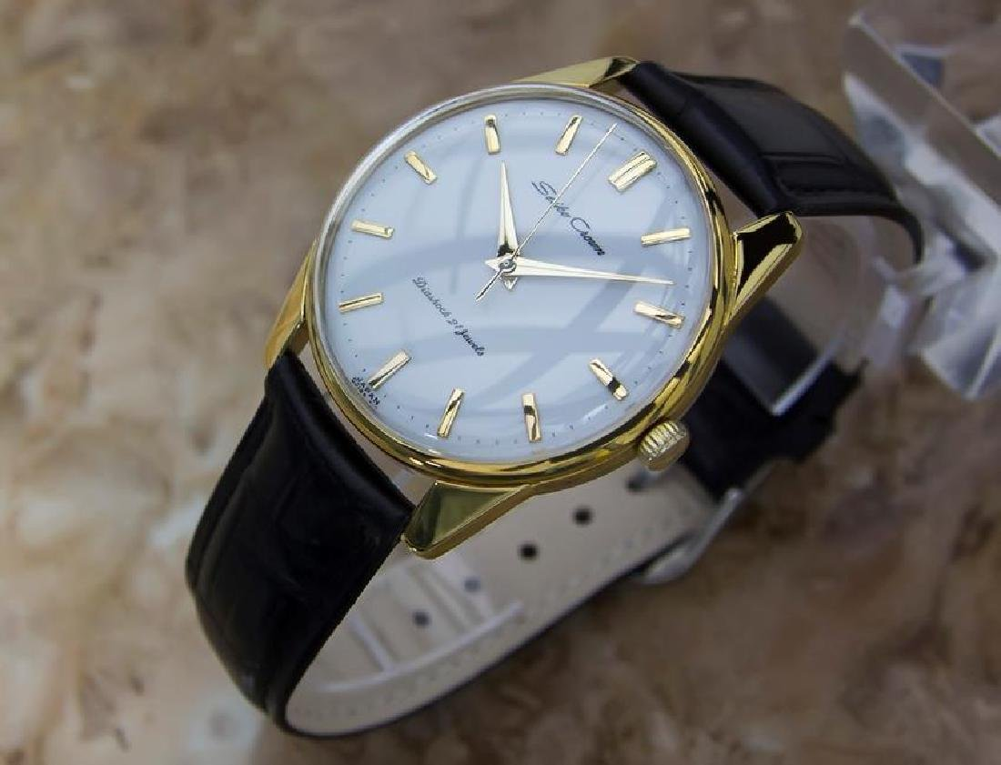 Seiko Crown Made in Japan 1960 Gold Plated Manual 36mm - 3