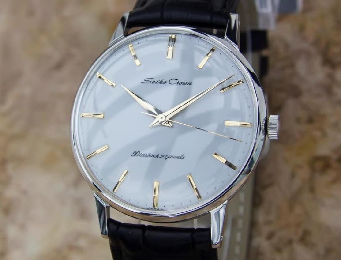 Seiko Crown Made in Japan 1960 Stainless Steel Manual