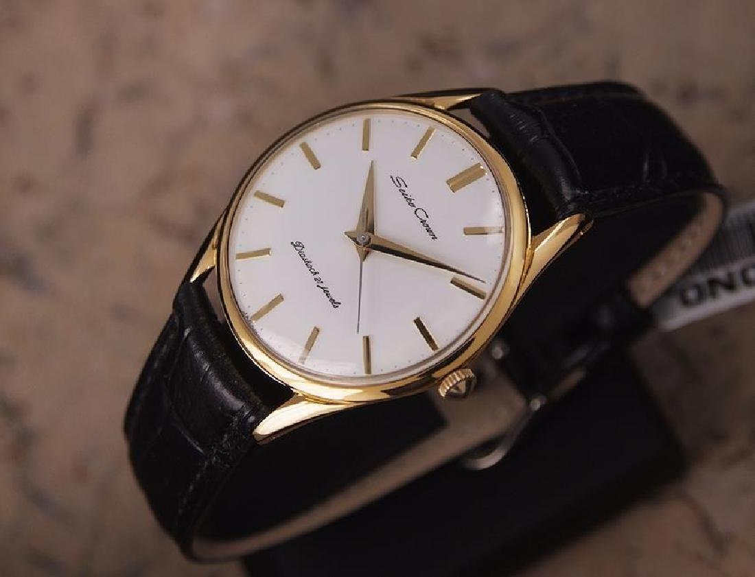 Seiko Crown Made in Japan 1960 Gold Plated Manual 35mm - 2