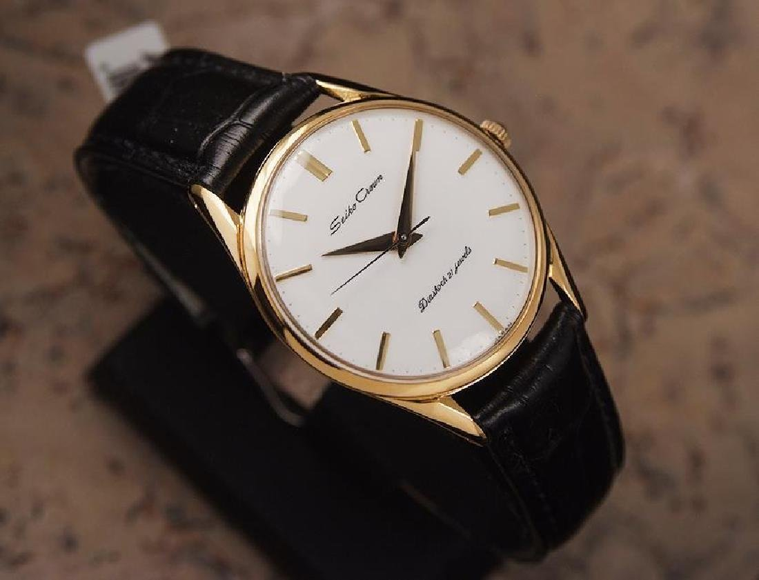 Seiko Crown Made in Japan 1960 Gold Plated Manual 35mm - 3