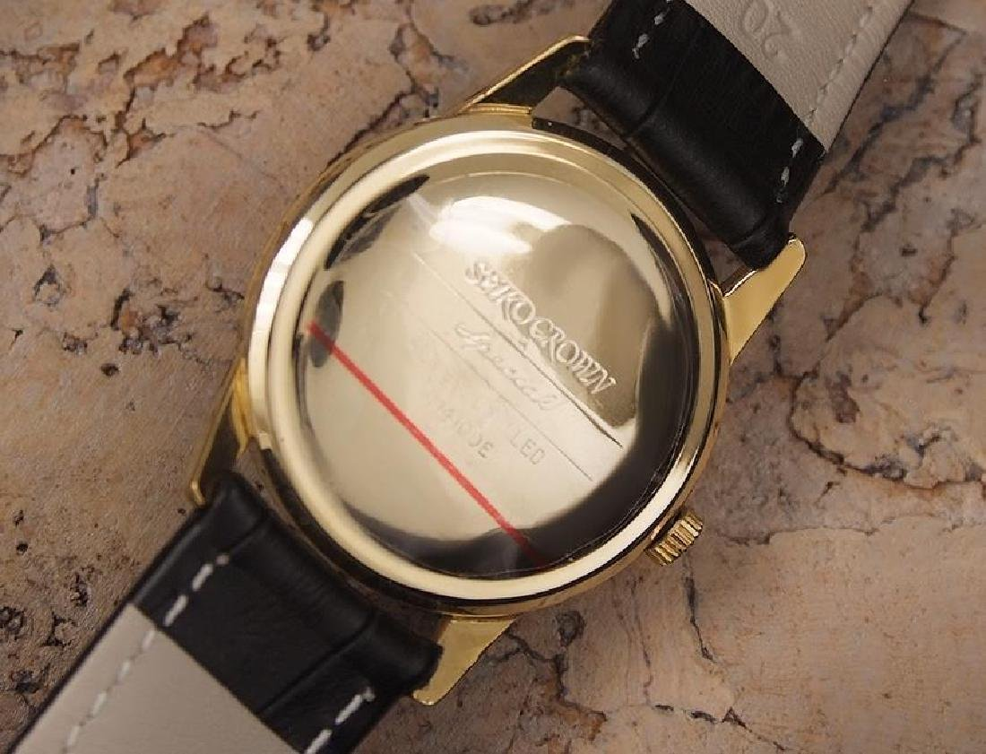 Seiko Crown Made in Japan 1960 Gold Plated Manual 35mm - 7