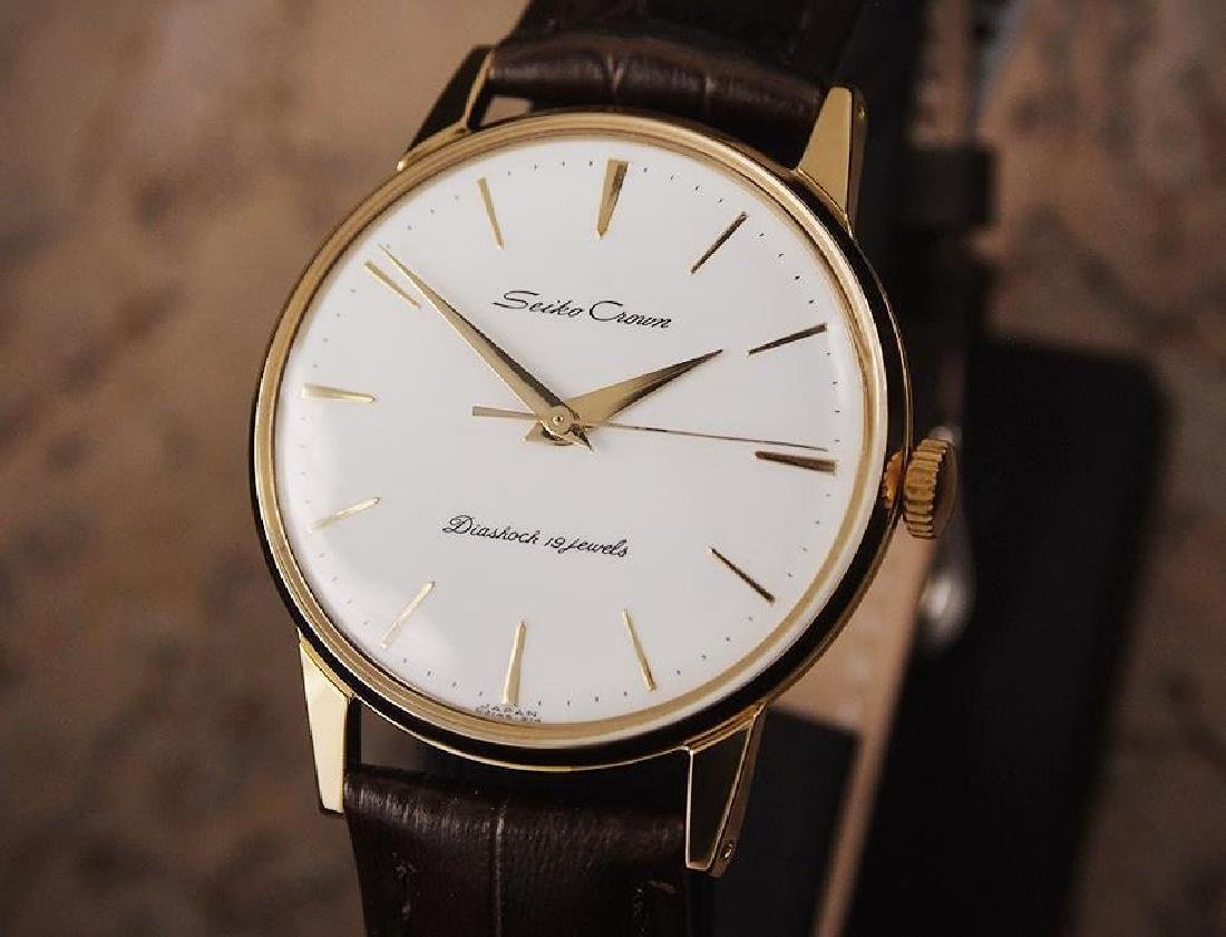 Seiko Crown Made in Japan 1960 Gold Plated Manual 35mm