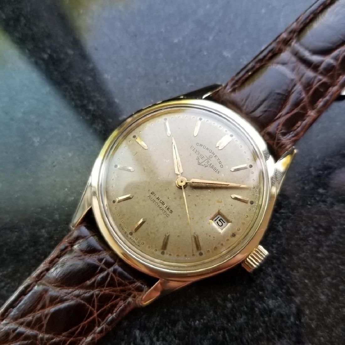 Vintage ULYSSE NARDIN Chronometer Automatic w/ date