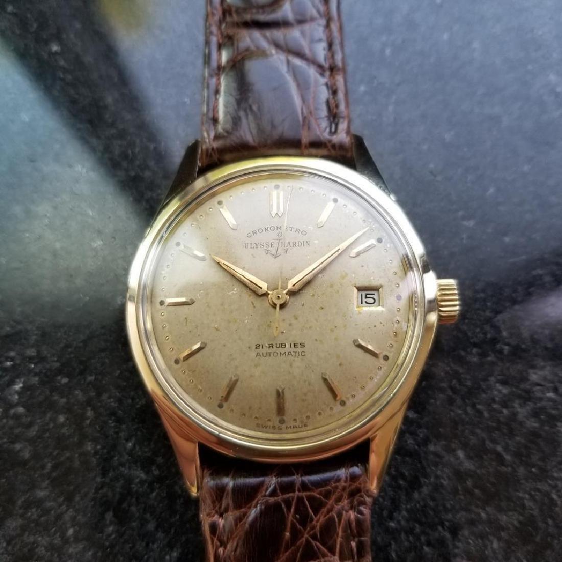 Vintage ULYSSE NARDIN Chronometer Automatic w/ date - 3