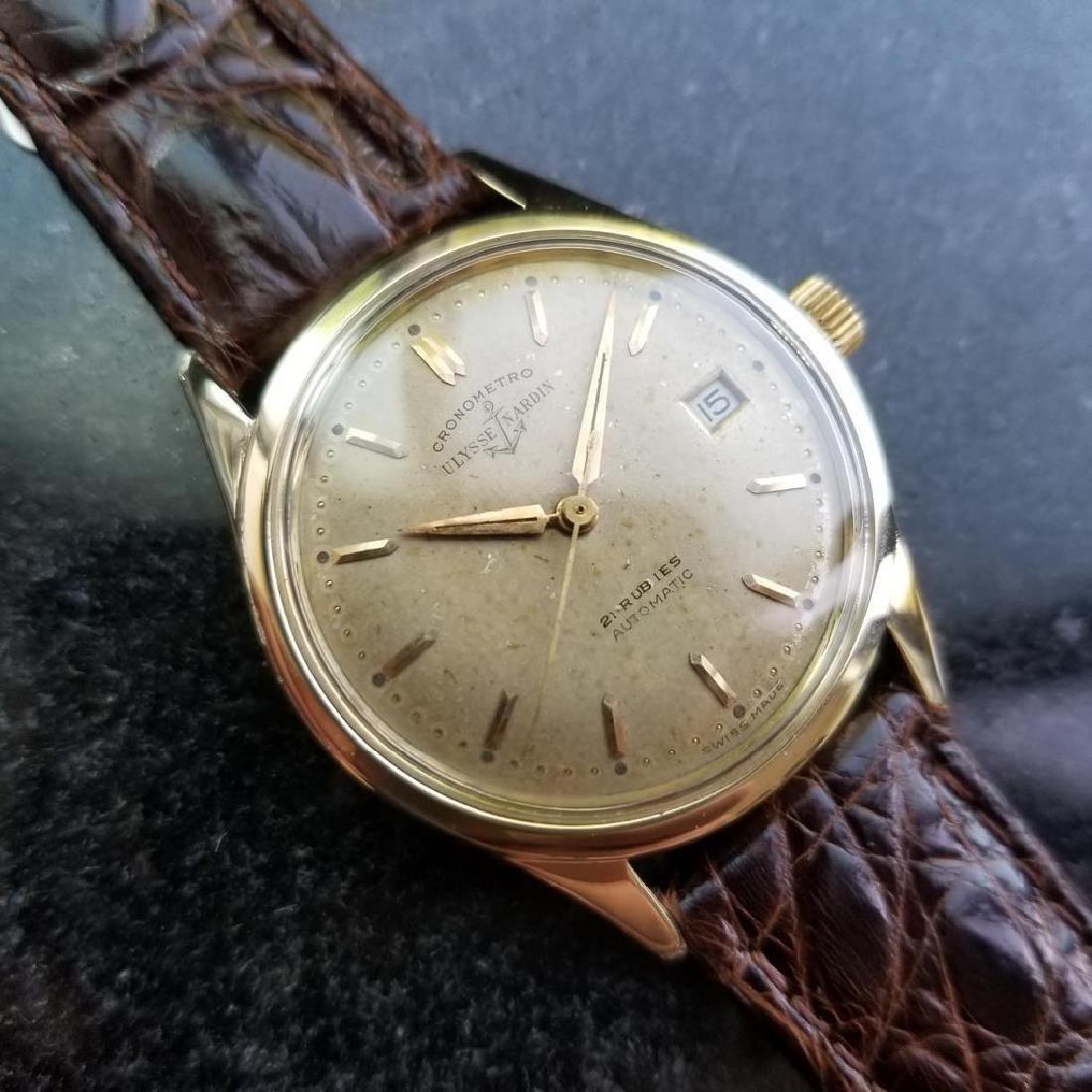 Vintage ULYSSE NARDIN Chronometer Automatic w/ date - 4