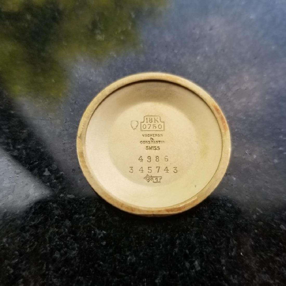 VACHERON & CONSTANTIN Men's 18K Gold 4986 Hand-Wind - 9