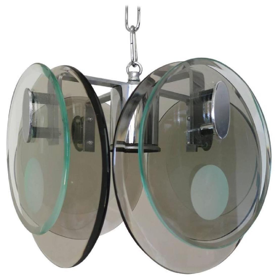 Dual Layer Discs Pendant by Cristal Art