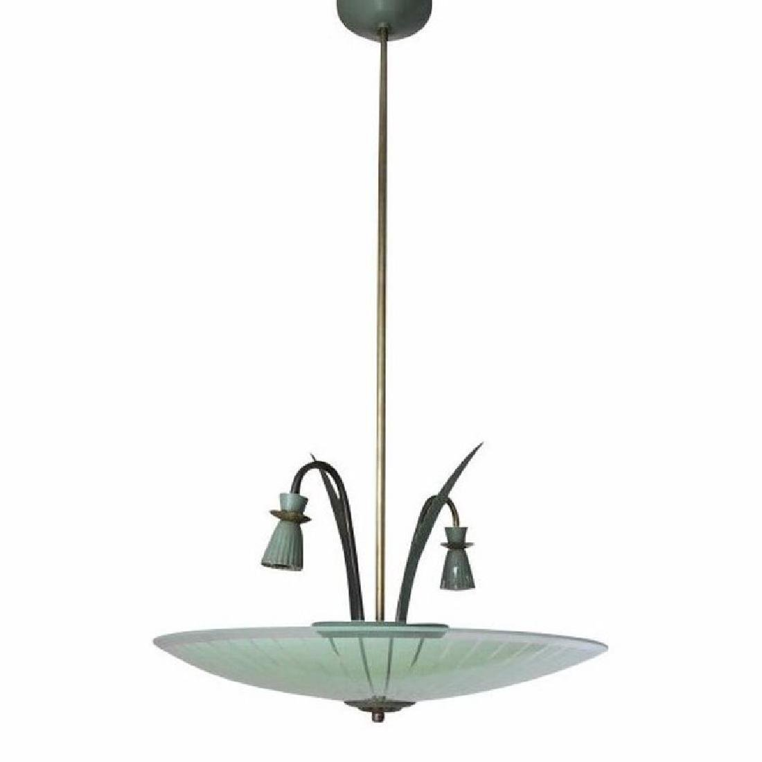 Italian Green Pendant by Stilnovo