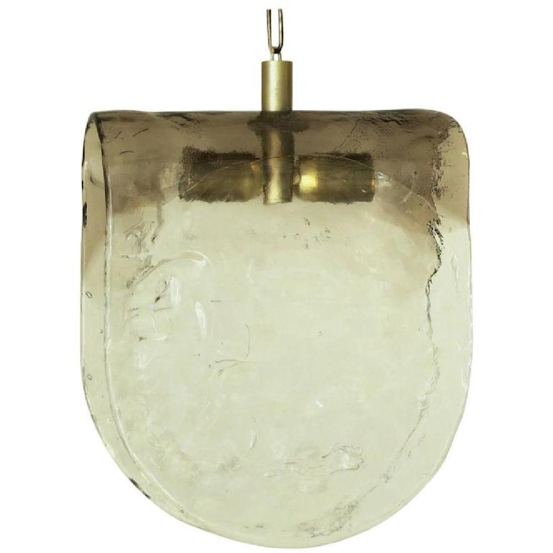 Murano Smoky Pendant by Carlo Nason for Mazzega