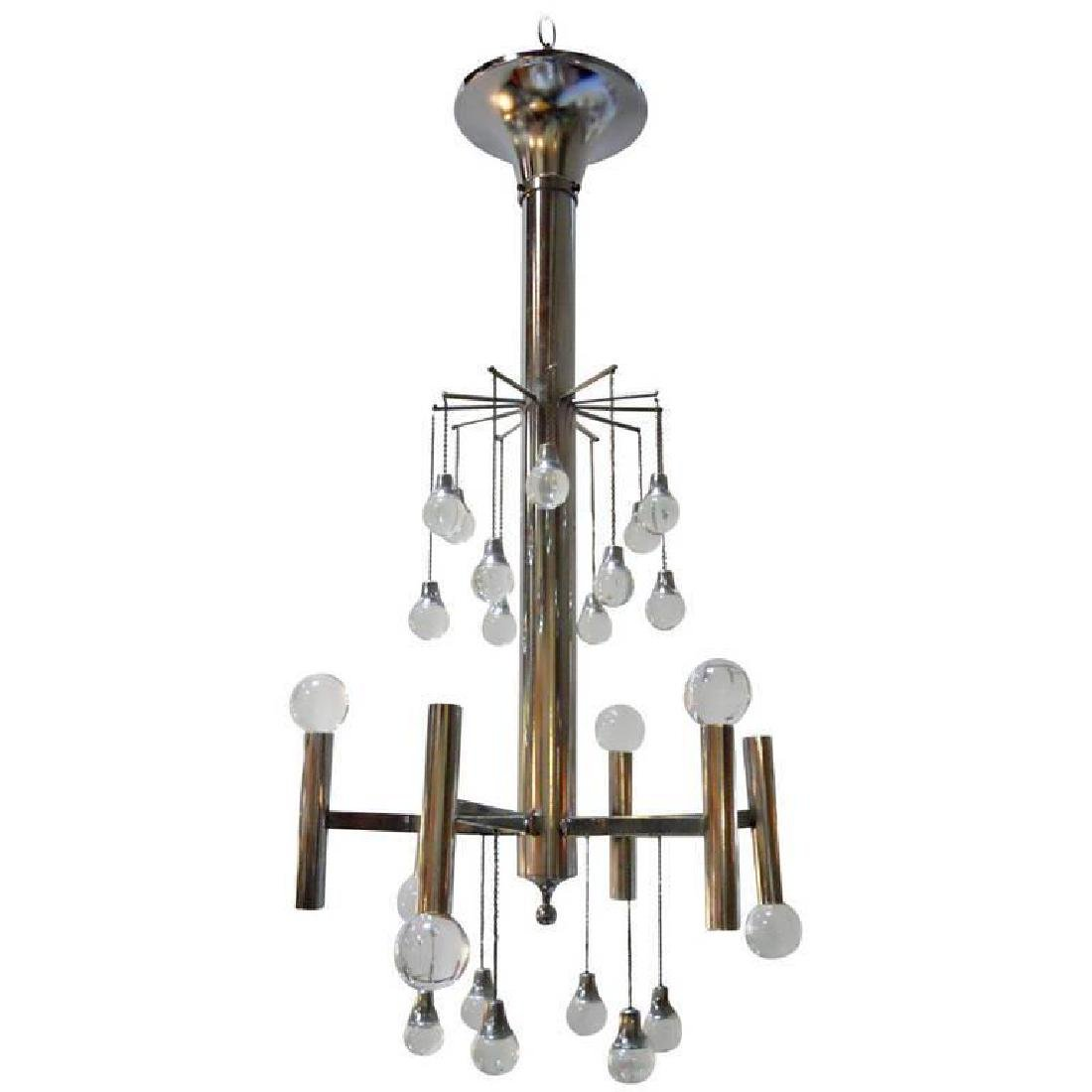 Chrome and Glass Balls Pendant by Sciolari
