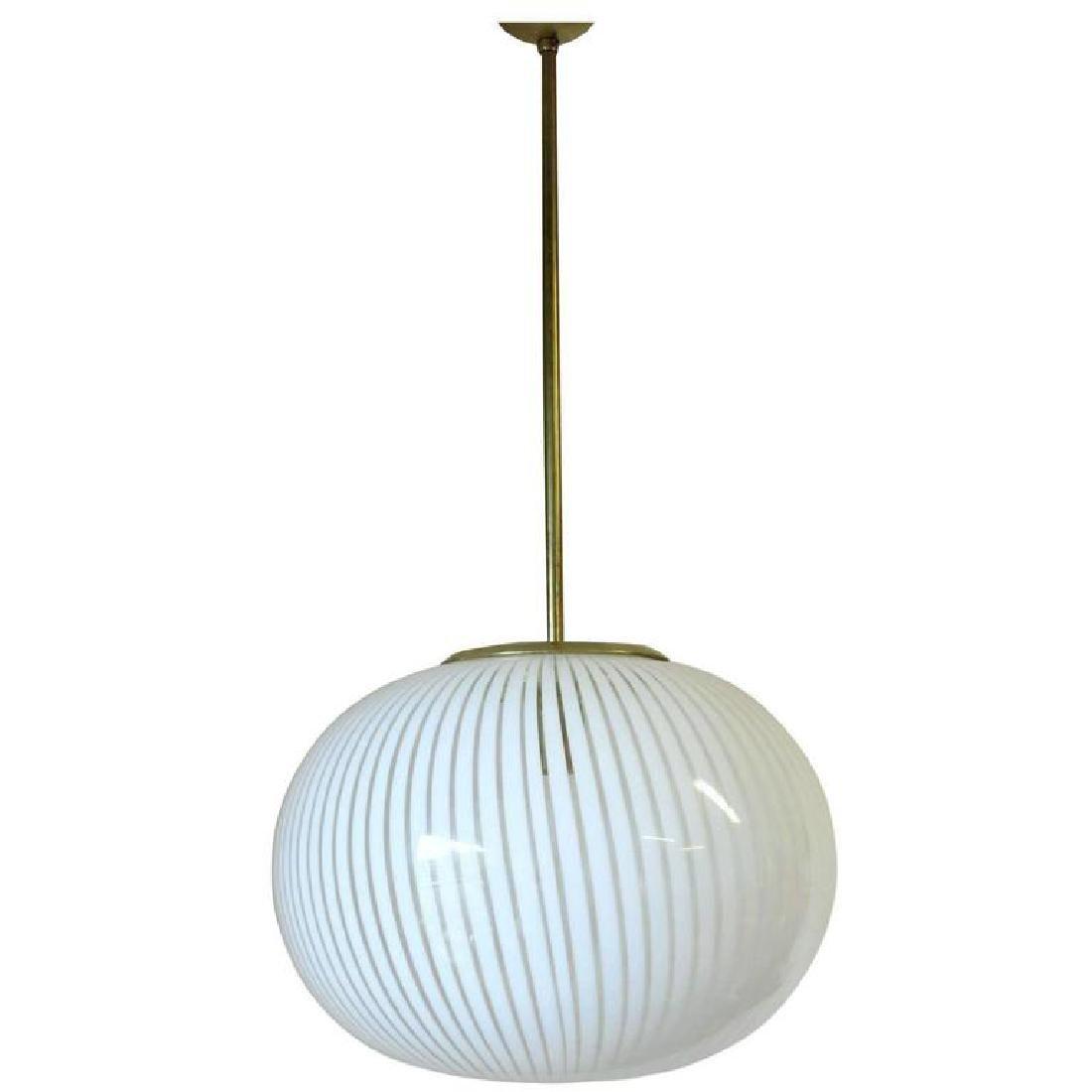 Italian Murano Glass Pendant by Venini