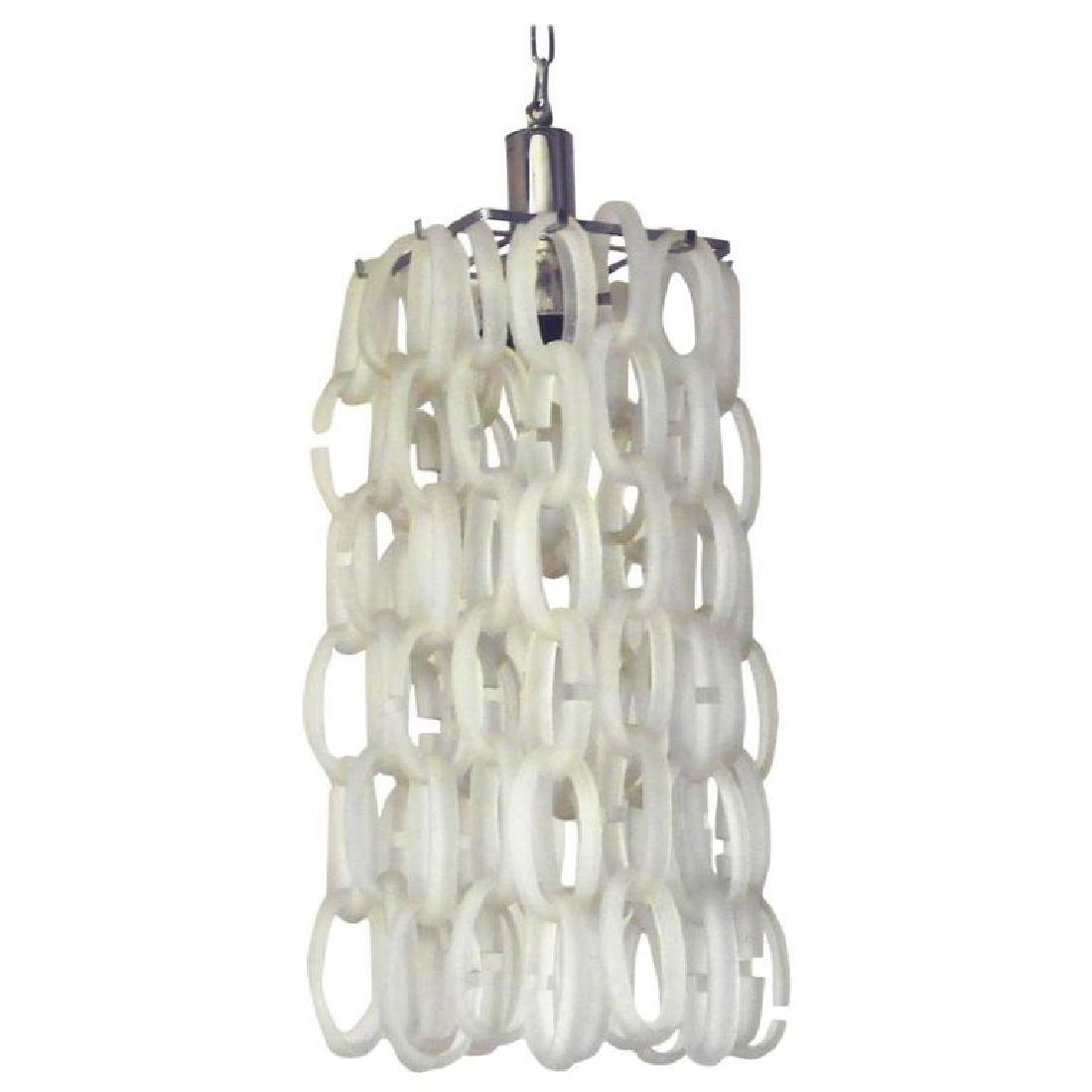 Italian Frosted Murano Glass Links Chandelier