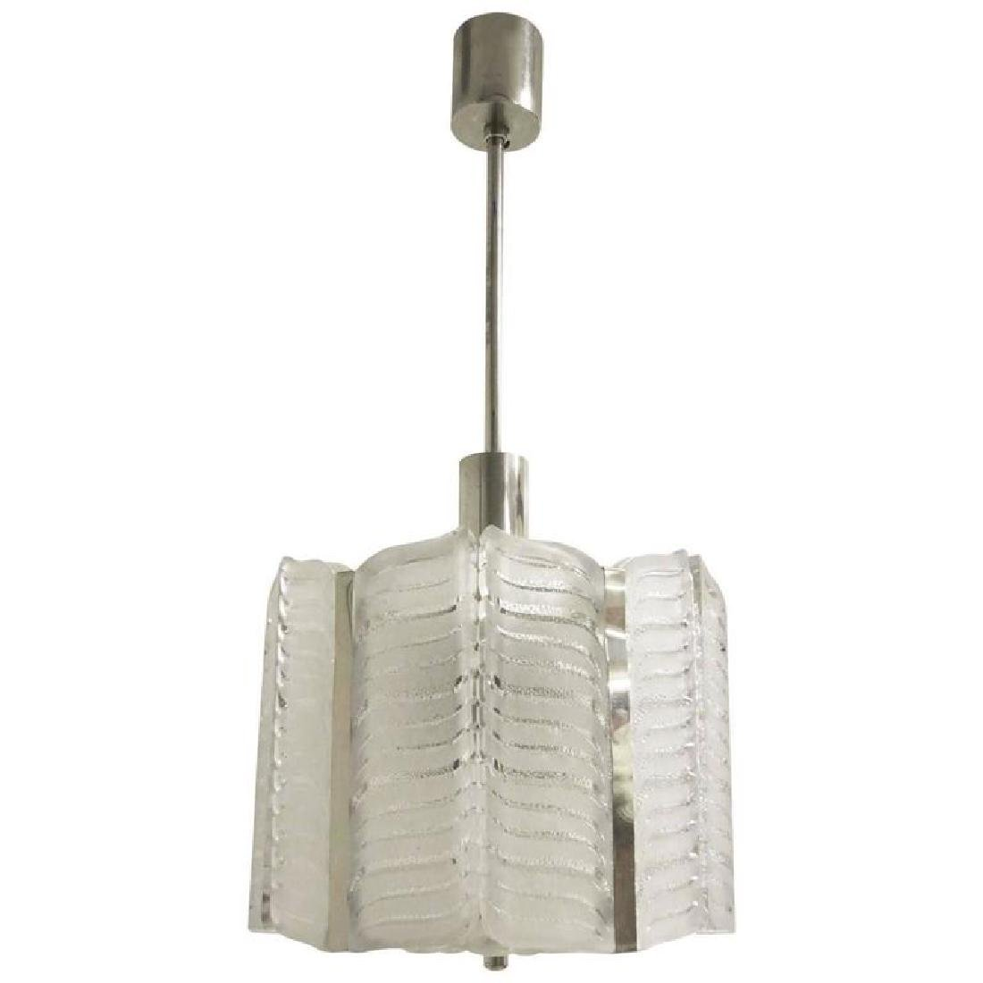 Frosted Murano Glass Pendant by Kalmar