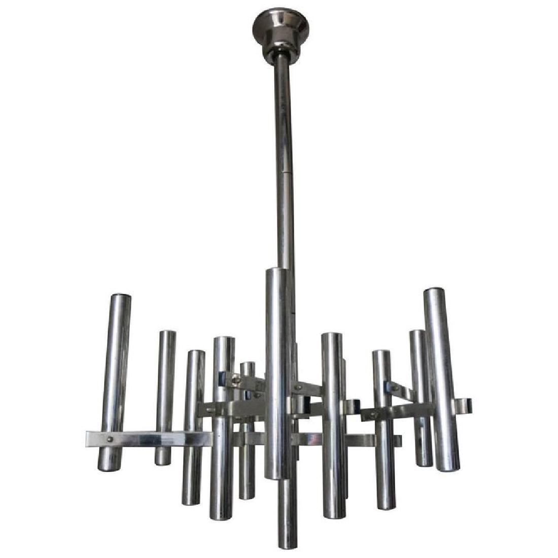 Chrome Tubular Pendant by Sciolari