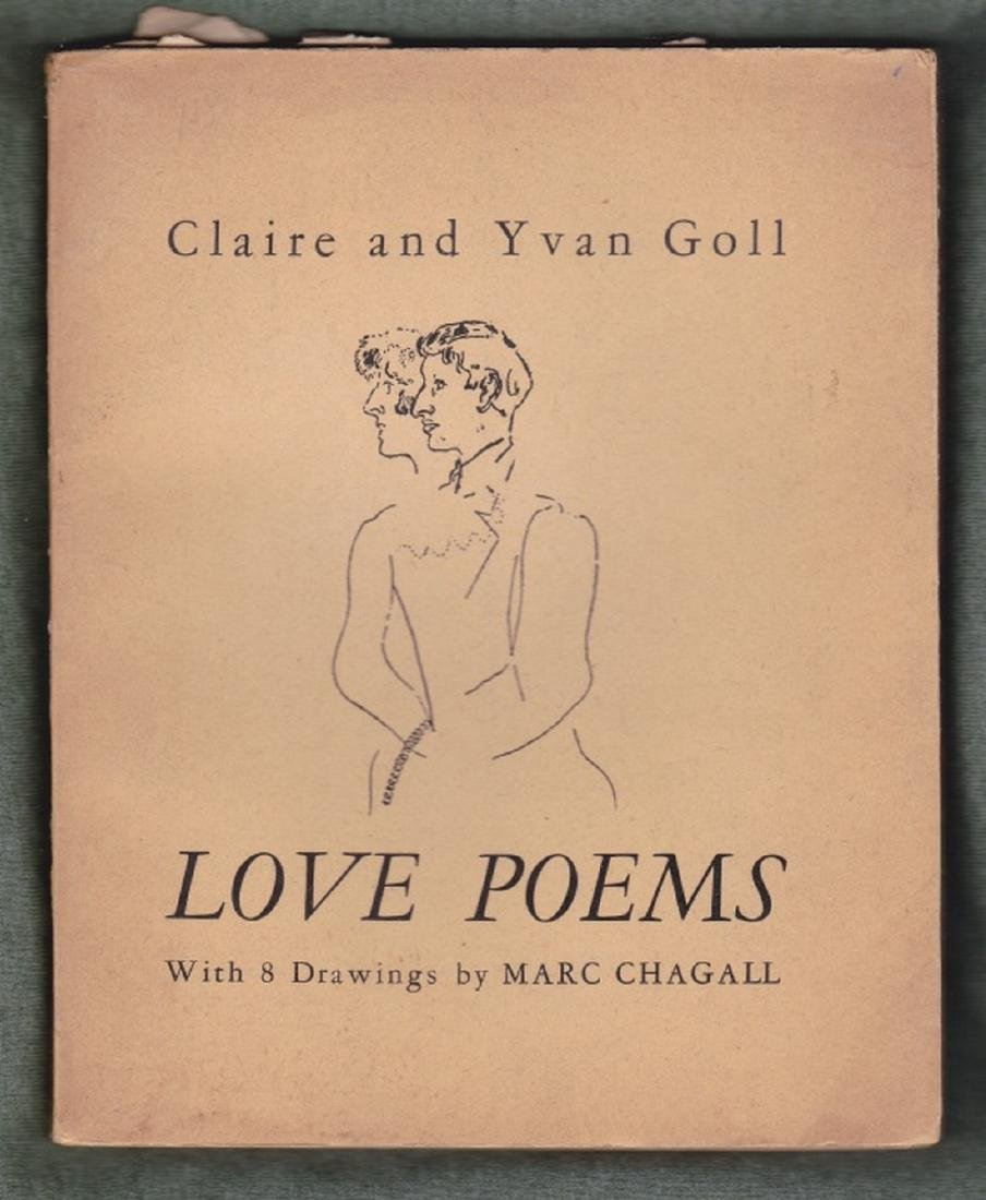 (2 Vols.) Love Poems and Jean Sans Terre. (Chagall.