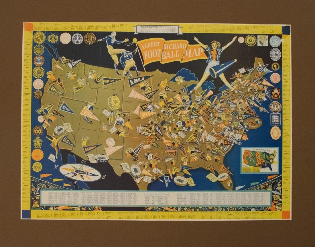 1940 Cheeseman Pictorial Map of the US Relating to