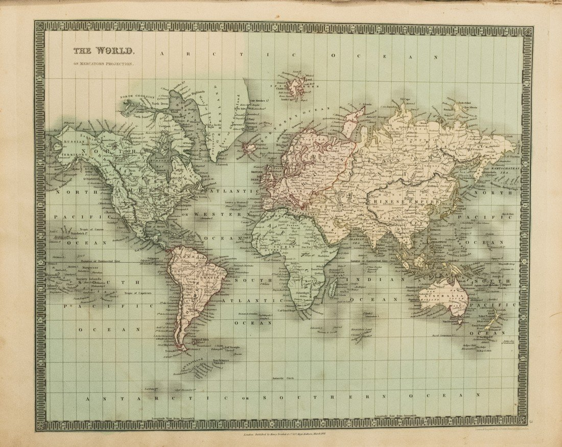 1831 Teesdale World Atlas -- A New General Atlas of the - 2