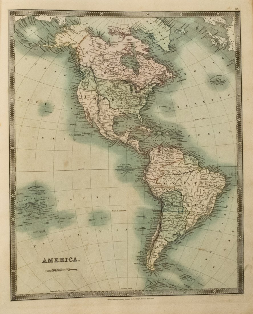 1831 Teesdale World Atlas -- A New General Atlas of the - 3
