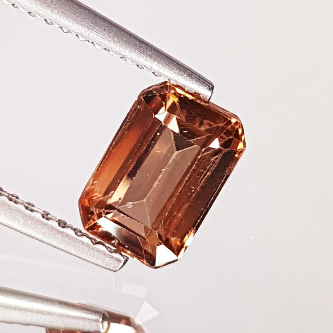 2.19 ct Exclusive Gem Emerald Cut Natural Pink Zircon
