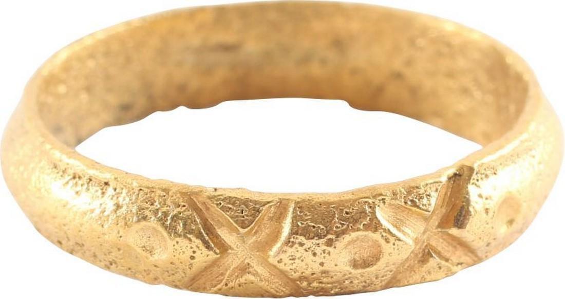VIKING WARRIOR'S RING C.866-1067 AD, Sz 10