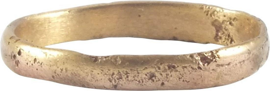 VIKING MAN'S WEDDING RING, 866-1067 AD, Sz 7 1/2