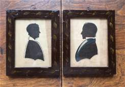 Pair of Very Early 19th C American Watercolor
