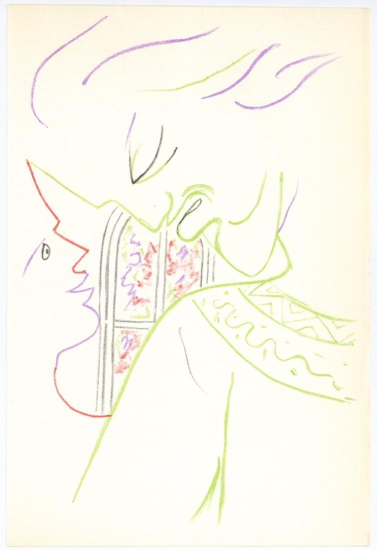 Jean Cocteau original lithograph | Knights of the Round