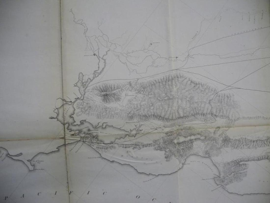 General Map of the Explorations & Surveys in California - 3