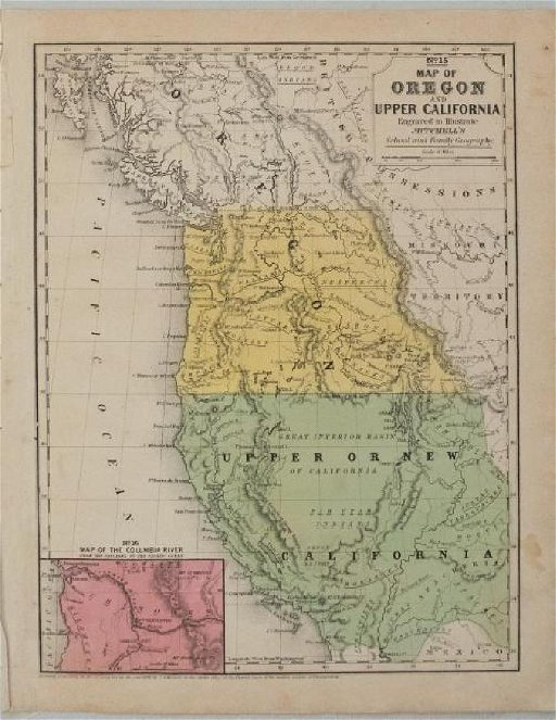 Map Of California To Oregon.1846 Mitchell Map Of California And Oregon No 15 Dec 18 2018