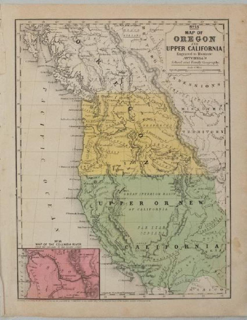 1846 Mitchell Map of California and Oregon -- No. 15