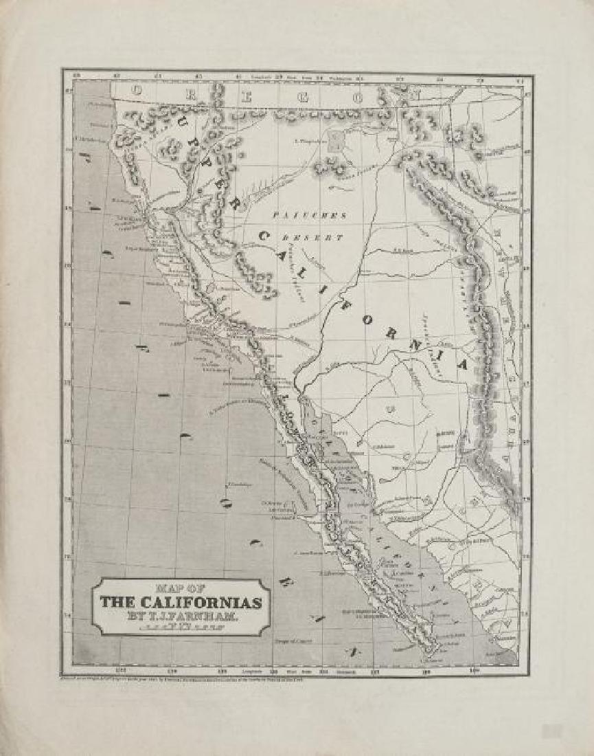 1845 Farnham Map of California -- Map of the