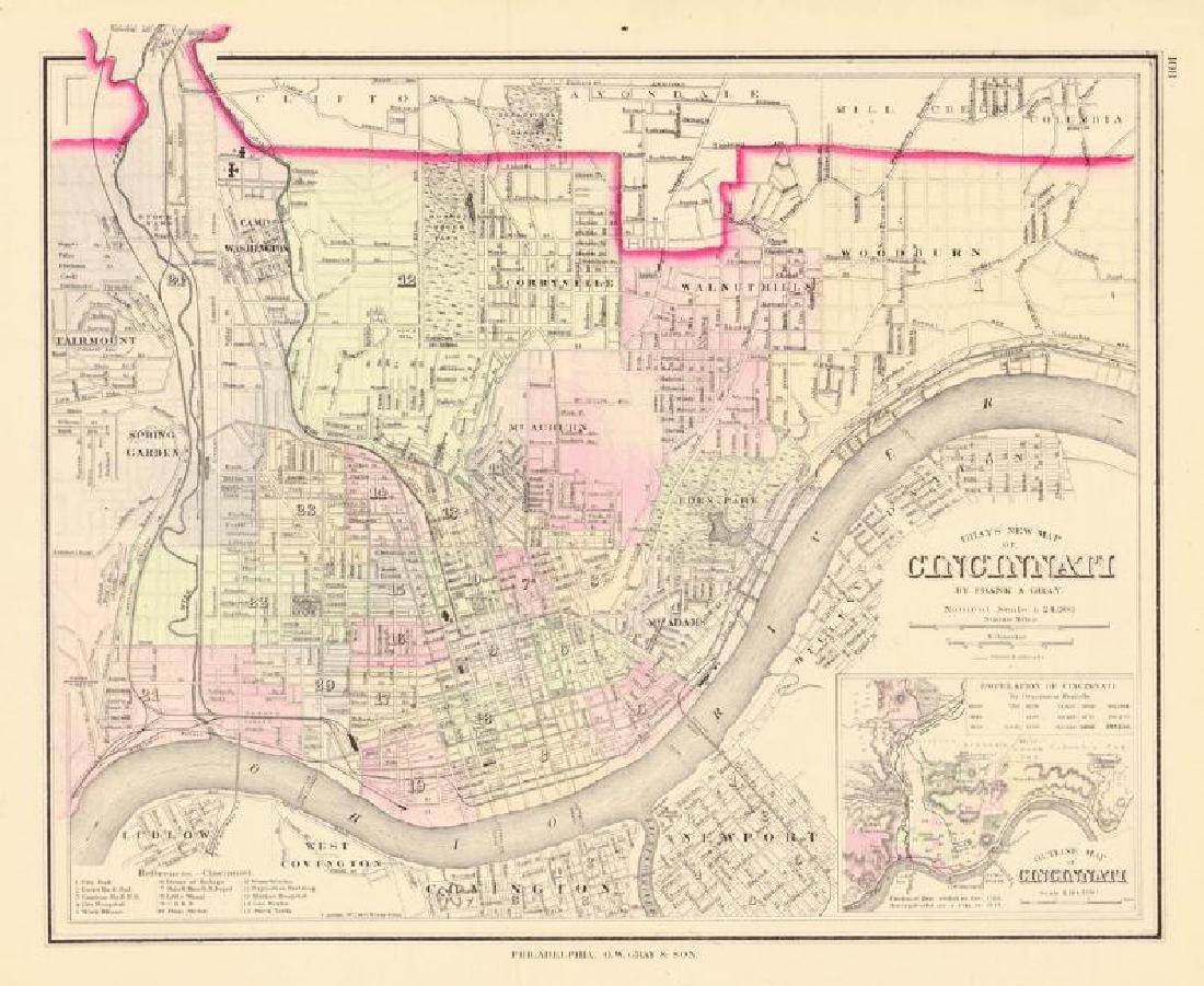 Gray's New Map of Cincinnati