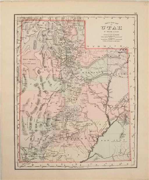 Gray\'s New Map of Utah [verso] Arizona and New Mexico