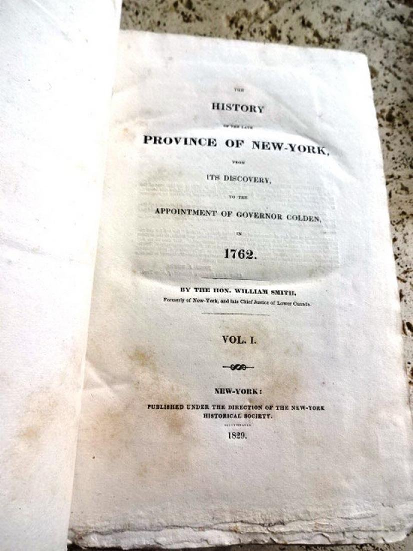 1829 Two-Vol Set History of Late Province of New-York - 2