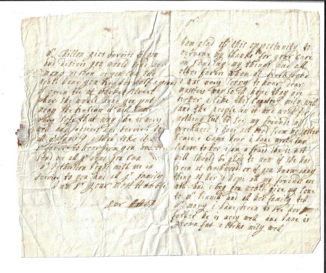 17th C English Letters Beechwood