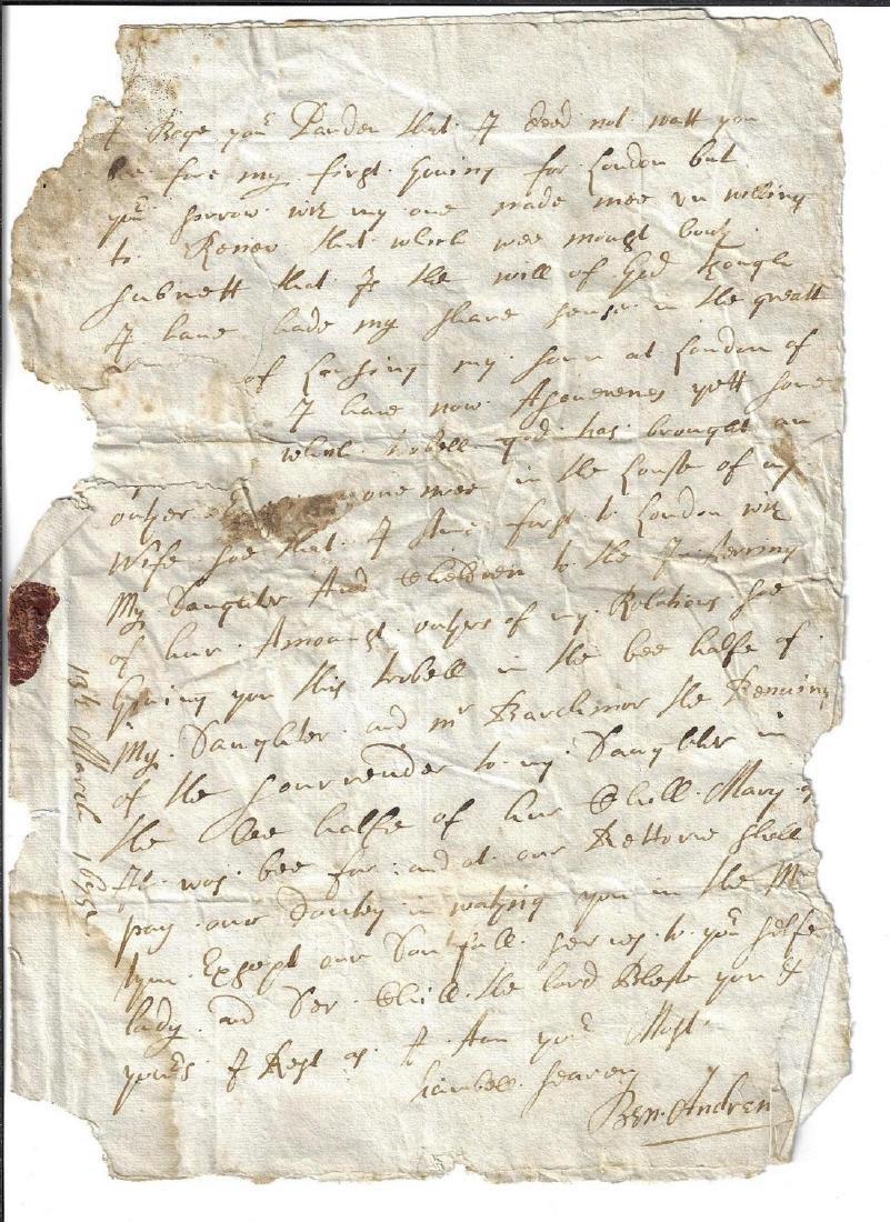17th C English Letters Beechwood - 2