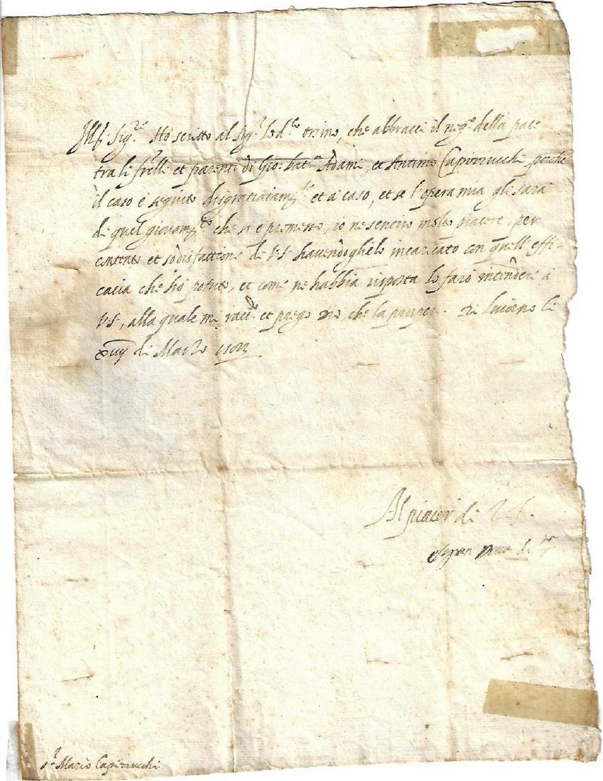 1583 Manuscript Letter Medici Interesting Content