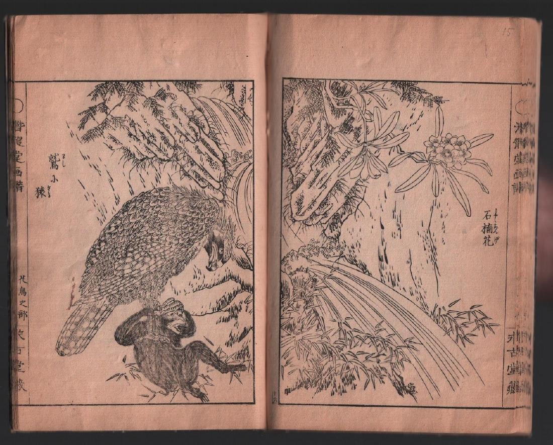 Unknown Woodblock Ehon (woodblock printed book) with - 3