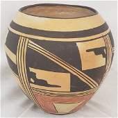 Hopi Pueblo deep pottery bowl ca 1930's