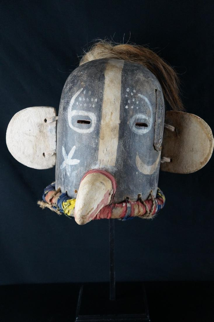 Native American Kachina HELMET, HOPI, Antique