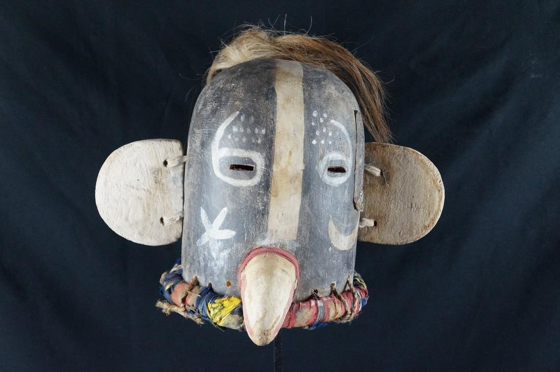 Native American Kachina HELMET, HOPI, Antique - 6