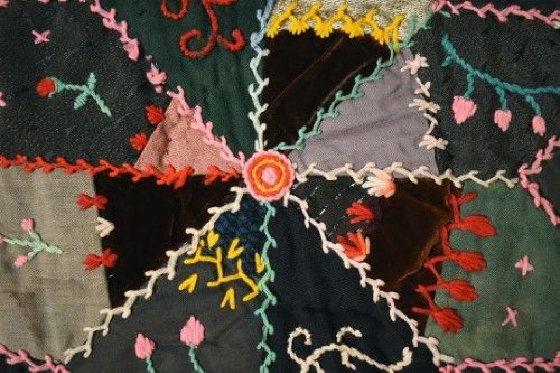Vintage Touching Stars Antique Quilt Dated 1906 - 6