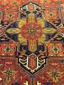 Semi Antique Persian Heriz 10.8x7.8
