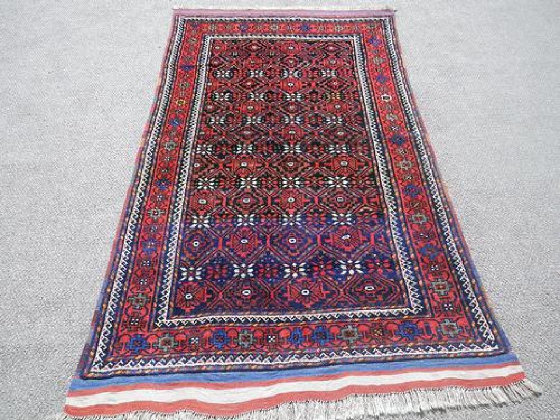 Hand Knotted Persian Kurdish Rug 3.11x7.0 - 2