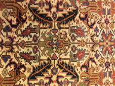 Semi Antique Heriz Persian Rug 9.87.7