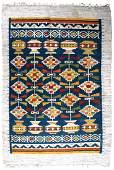 Handmade vintage Scandinavian flat-weave kilim 5.5' x